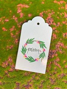 Tag Decorativa Guirlanda Páscoa - 5 unidades - Rizzo