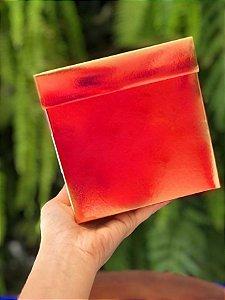 Caixa Cubo Metalizada para Presente Vermelha 8x8x8cm - ASSK - Rizzo