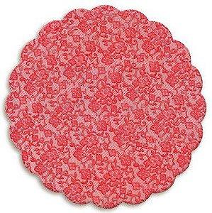 Fundo Rendado Redondo Vermelho 9cm - 100 unidades - Cromus - Rizzo