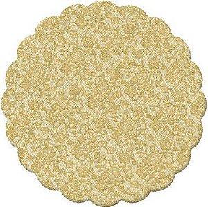 Fundo Rendado Redondo Ouro 7cm - 100 unidades - Cromus - Rizzo