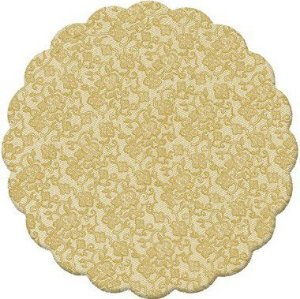 Fundo Rendado Redondo Ouro 9cm - 100 unidades - Cromus - Rizzo