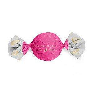 Papel Trufa 14,5x15,5cm - Cacau Pink - 100 unidades - Cromus