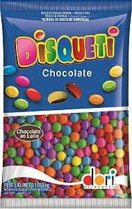 Disqueti Chocolate ao Leite Colorido 1,010 Kg - Dori Alimentos - Rizzo