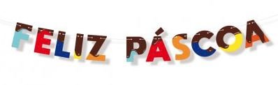 Faixa Decorativa Feliz Páscoa Cores - Cromus - Rizzo