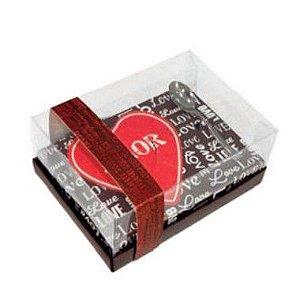Caixa Coração de Colher 250g - Classic Love Cacau Cód 1701 - 05 unidades - Ideia Embalagens - Rizzo