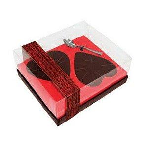 Caixa 2 Corações de Colher de 250g - Classic Coração Red Love Cód 1403 - 05 unidades - Ideia Embalagens - Rizzo
