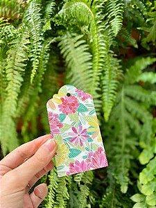 Tag Decorativa Floral - 05 unidades - Rizzo