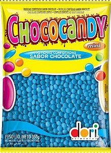 Pastilhas Confeitadas Sabor Chocolate Mini Azul 350g - Dori Alimentos - Rizzo
