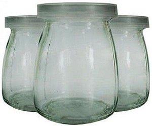 Pote de Vidro com Tampa de Plástico Transparente - 200ml - 6,5x9cm - 01 unidade - Rizzo