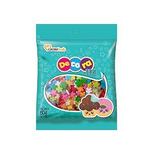 Decora Fun Confeitos Flowers - Cacau Foods - 50g - Rizzo Confeitaria