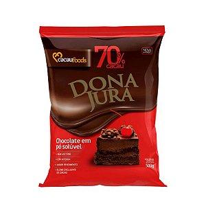 Chocolate em Pó Solúvel 70% Cacau - Cacau Foods - 500g - Rizzo Confeitaria