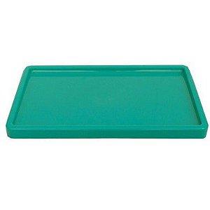 Bandeja Retangular 30x18cm Verde Esmeralda - 01 unidade - Só Boleiras - Rizzo