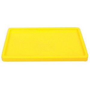 Bandeja Retangular 30x18cm Amarelo Neon - 01 unidade - Só Boleiras - Rizzo