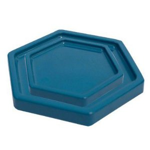 Bandeja Sextavada Azul Petróleo - 01 unidade - Só Boleiras - Rizzo