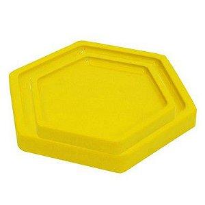 Bandeja Sextavada Amarelo - 01 unidade - Só Boleiras - Rizzo