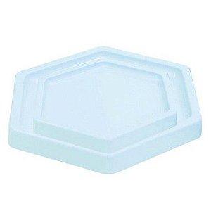 Bandeja Sextavada Azul Claro Candy - 01 unidade - Só Boleiras - Rizzo