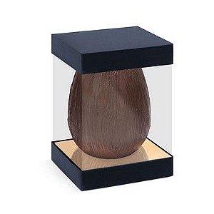 Caixa Vertical Specialla para Ovo de 500g 18,5x13,5x13,5cm Ouro e Preto - 06 unidades - Cromus Páscoa