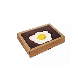 Caixa Ovo Frito Kraft - 5 Unidades - Crystal -  Rizzo Confeitaria