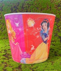 Balde Pipoca de Plástico 3D Festa Disney Princesas 1L - 1 Unidade - Regina - Rizzo