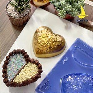 Forma Especial Coração Flores 2 Recheios Ref. 1100 Porto Formas Rizzo Confeitaria