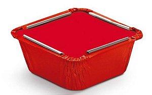 Marmitinha Liso Vermelho P 5,5x5,5x3cm - 12 unidades - Cromus - Rizzo