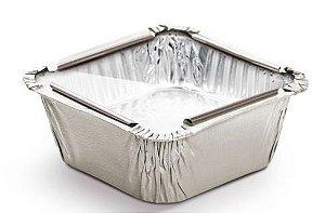 Marmitinha Prata Tampa de Acetato P 5,5x5,5x3cm - 12 unidades - Cromus - Rizzo