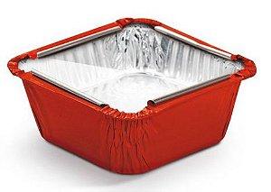 Marmitinha Vermelho Tampa de Acetato P 5,5x5,5x3cm - 12 unidades - Cromus - Rizzo