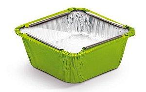Marmitinha Verde Tampa de Acetato P 5,5x5,5x3cm - 12 unidades - Cromus - Rizzo