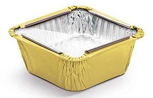 Marmitinha Amarelo Tampa de Acetato P 5,5x5,5x3cm - 12 unidades - Cromus - Rizzo