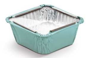 Marmitinha Azul Tampa de Acetato P 5,5x5,5x3cm - 12 unidades - Cromus - Rizzo