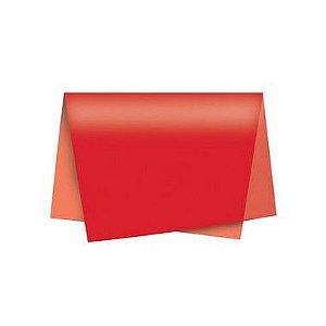 Papel de Seda - 50x70cm - Vermelho - 10 folhas - Riacho - Rizzo
