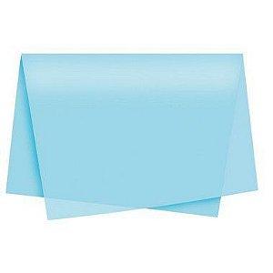 Papel de Seda - 50x70cm - Azul Claro - 10 folhas - Riacho - Rizzo
