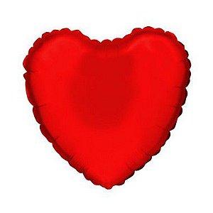 """Balão de Festa Microfoil Coração Vermelho - Aprox. 18"""" 45cm - 01 Unidade - Rizzo"""
