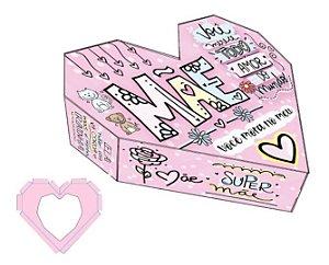 Caixa Coração Lapidado Mãe Ref. 22307 - 2 un. Erika Melkot Rizzo