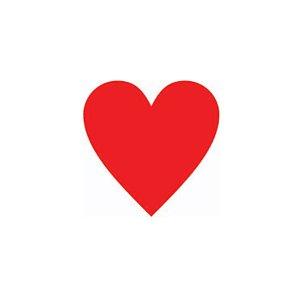 Etiqueta Adesiva Coração Vermelho com 100 un. Rizzo