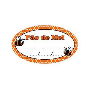 Etiqueta Adesiva Pão de Mel Abelha com 100 un. Rizzo