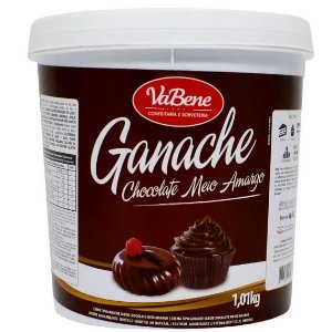 Ganache Sabor Chocolate Meio Amargo 1,01Kg - VaBene - Rizzo Confeitaria