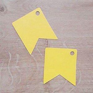 Tag Bandeirinha Festa Junina Amarelo - 4,5 X 5,5 cm - 10 Unidades - Rizzo