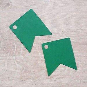 Tag Bandeirinha Festa Junina Verde - 4,5 X 5,5 cm - 10 Unidades - Rizzo