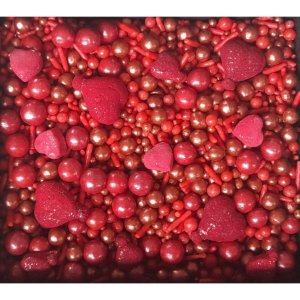 Sprinkles Red 60g - Morello - Rizzo Confeitaria