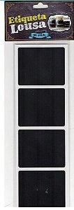 Etiqueta Adesiva Lousa Preta - 08 unidades - Rizzo