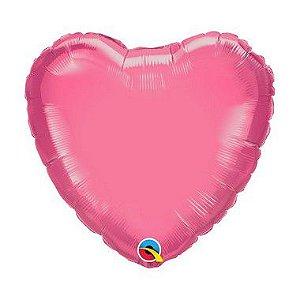 """Balão Microfoil Coração 18"""" 45cm - Rosado - 01 Unidade - Qualatex - Rizzo"""