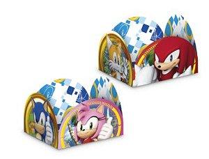 Porta Forminha para Doces Festa Sonic - 50 unidades - Regina - Rizzo Embalagens
