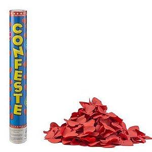 Lança Confete Confeste Crepom Coração Vermelho - 40 cm - Mundo Bizarro