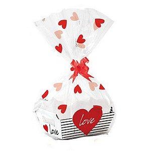 Kit Cesta De Papel Cartão Love - 01 unidade - Cromus - Rizzo