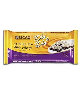 Cobertura Meio Amargo Fracionado Barra 1 kg Dia a Dia Sicao