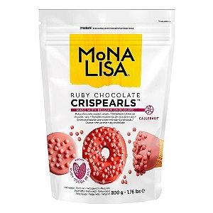 Crispearls Ruby 800g Monalisa Callebaut Rizzo Confeitaria