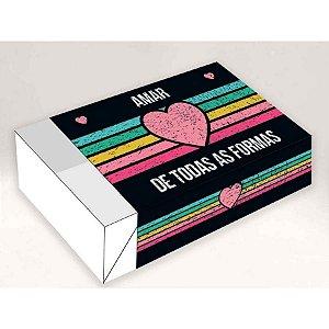 Caixa Divertida Amar de todas as Formas 6 doces - Ref. 1040 - 10 unidades - Erika Melkot Rizzo Confeitaria