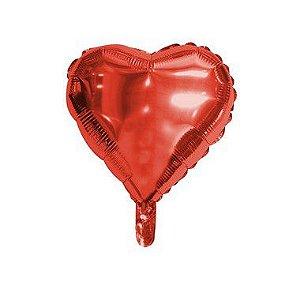 """Balão de Festa Microfoil Coração Vermelho - 9"""" - 01 Unidade - Rizzo"""