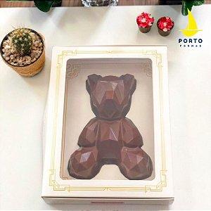Caixa Urso Geométrico com 5 un. Porto Formas Rizzo Confeitaria